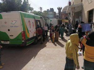 إستئناف أعمال القوافل الطبية بقرية المرابعين بدمياط