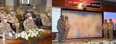 Photo of محمد فريد رئيس أركان حرب القوات المسلحة يشهد تنفيذ المرحلة الرئيسية للمشروع الإستراتيجى التعبوى التخصصى لإدارة المدفعية (أحمس 3