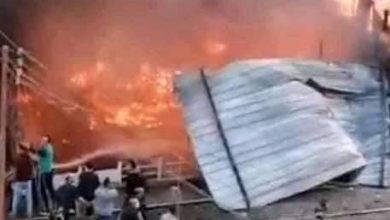 Photo of حريق هائل بجوار محطة الزقازيق بالشرقية. ًًً.