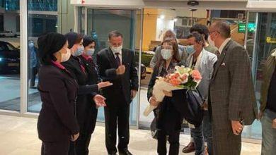 Photo of بالصور….وصول ماجدة الرومى إلي مطار القاهرة استعدادا لحفلها بقصر القبة