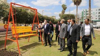 Photo of محافظ كفر الشيخ يتفقد.الحدائق العامة المجانية لمتابعة أعمال التطوير