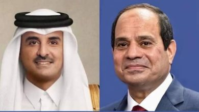 Photo of أمير قطر يهنئ الرئيس السيسى بحلول شهر رمضان المبارك خلال إتصال هاتفى