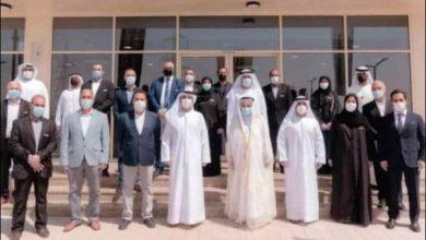 """Photo of """"حاكم الشارقة """" في صورة جماعية مع فريق عمل مشروع سوق الشارقة للمواشي"""