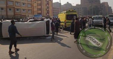 Photo of إصابة 12 شخصا فى حادث انقلاب أتوبيس بالشرقية