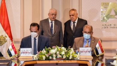 Photo of شوقي والتراس يشهدان  بروتوكول التعاون لتلبية إحتياجات الوزارة من الشاشات والفصول الذكية
