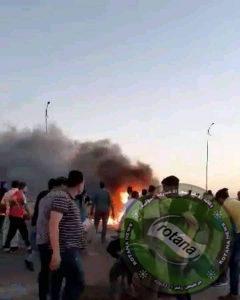 حادث مروع يؤدي الي وفاة 4أشخاص وإصابة 12 أخرين بطريق الدائري الأقليمي الأوسطي  بحدائق حلوان