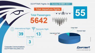 Photo of خدمة إعلامية عن جدول رحلات مصر للطيران اليومي.