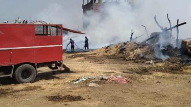 Photo of السيطرة على حريق شونة مصنع كتان سمنود