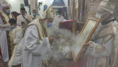 Photo of العذراء مريم بالسويس تشهد قداس عيد القيامة المجيد