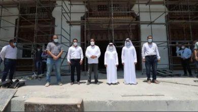 Photo of وفد دائرة الأشغال العامة بإمارة الشارقة يتفقد الأعمال في جامعة خورفكان