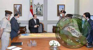 الرئيس يجتمع بمستشار الرئيس للتخطيط العمراني ورئيس الهيئة الهندسية