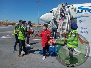 مطار مرسي مطروح الدولي يستقبل أولي الرحلات الجوية لشركة ''SCAT''