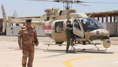 Photo of قيادة العمليات المشتركة والقوات البرية العراقية يجرون طلعة جوية لمتابعة حدود منطقة ديالى