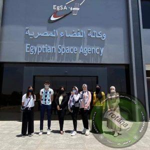 وفد طلاب كلية الإعلام جامعة MSA يجري زيارة ميدانية قي وكالة الفضاء المصرية EGSA