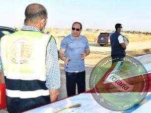 """الرئيس السيسى يتفقد مشروعات تطوير شبكة محاور وطرق الساحل الشمالى """"صور """""""