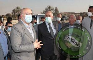 وزير الري ومحافظ بني سويف يتفقدان إعادة تأهيل مخر سيل سنور