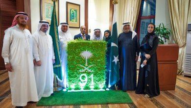 "Photo of القنصل الباكستاني "" لدي المملكة ينظم احتفالية كبري اليوم الوطني ٩١ للسعودية"