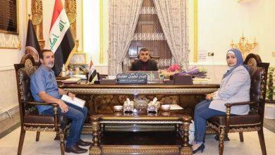 Photo of الأمين العام لوزارة الدفاع العراقية يستقبل سفيرة التطوع الإنساني في جامعة الدول العربية